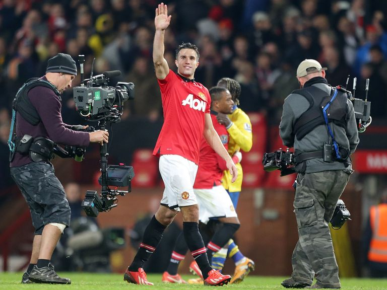 Robin Van Persie guided United to victory.