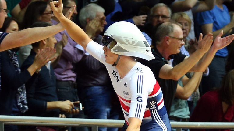 Owain Doull lapped the rest of the field on the way to scratch gold