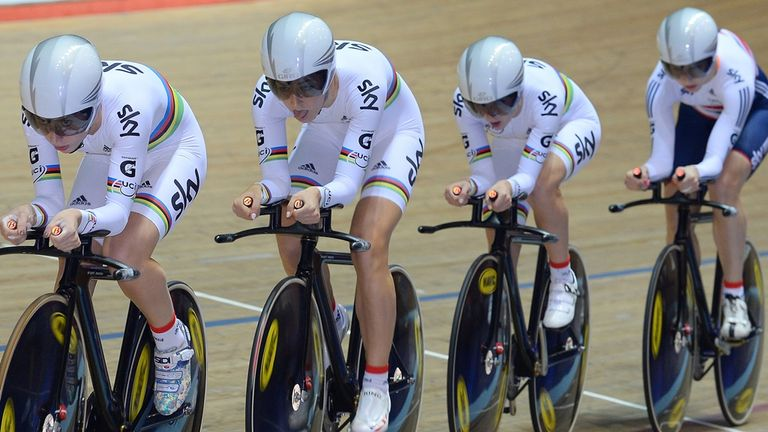 Britain's women's team pursuit squad are heavy favourites to take gold in Colombia