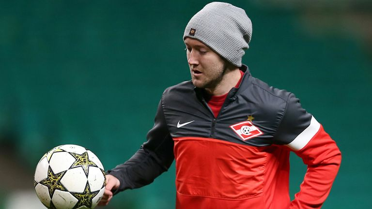 Aiden McGeady: Forced to train with Spartak's youth team