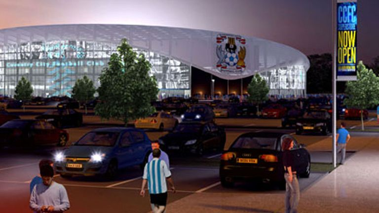 An artist impression of Coventry's proposed new stadium