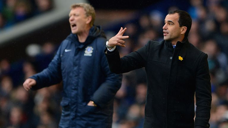 Roberto Martinez (right): Admires David Moyes