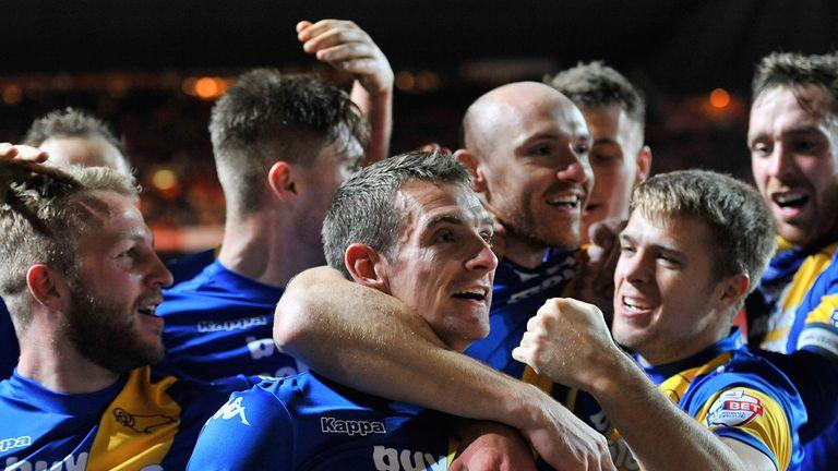 Craig Bryson: Celebrates his goal against Charlton