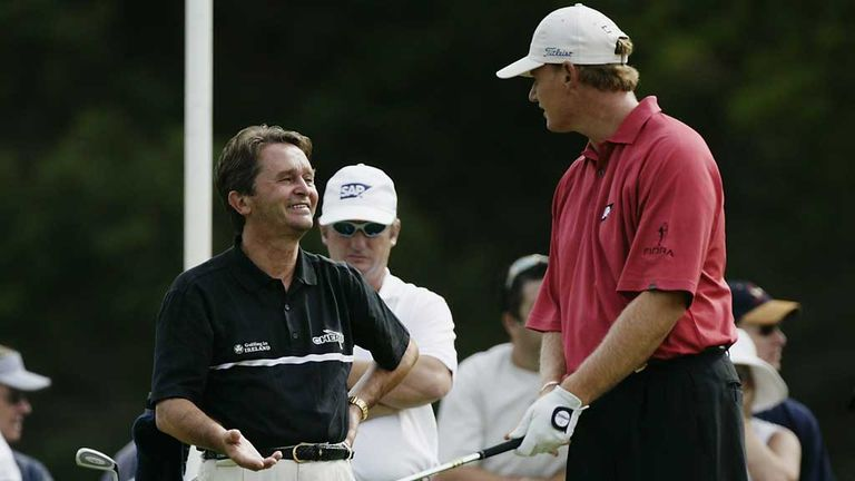 Ernie Els working with Jos Vanstiphout in 2003