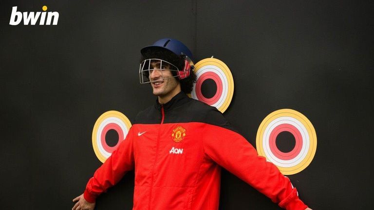 Marouane Fellaini has so much trust in his team-mates he wore a protective helmet