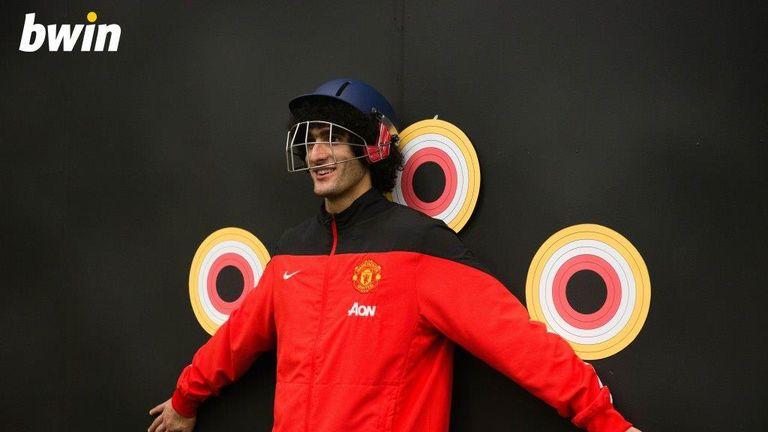 Marouane Fellaini has so much trust in his team-mates he wore a protective helmet