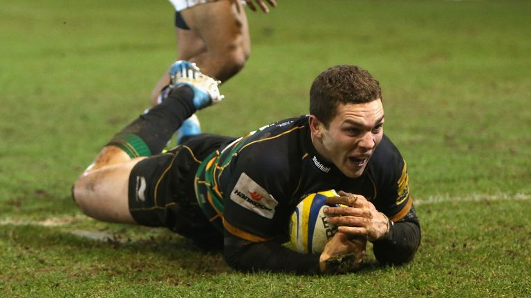 George North dives over for Northampton's sixth try