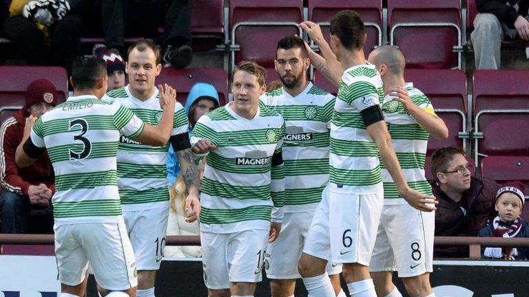 Kris Commons takes the plaudits after opening the scoring in the Tynecastle rout