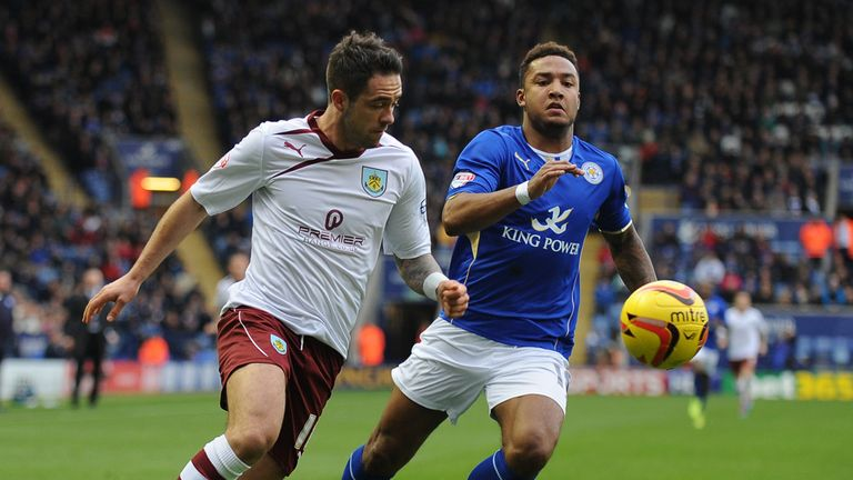 Leicester and Burnley meet live on Sky - but Danny Ings (left) will be missing