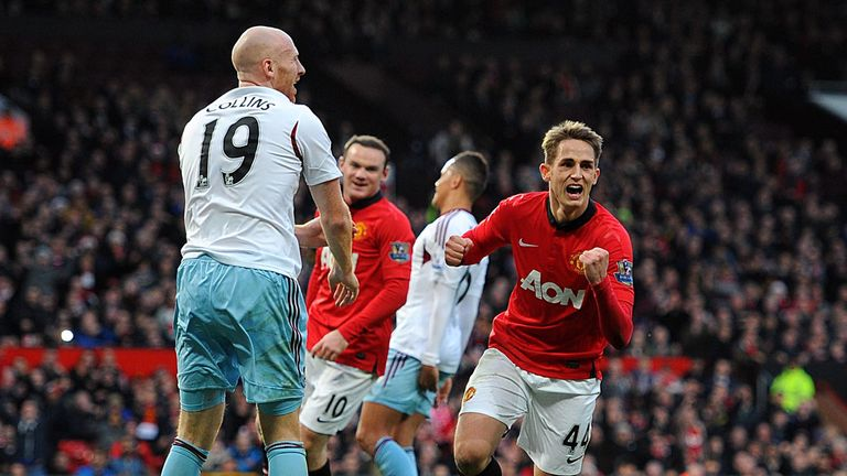 Adnan Januzaj: Celebrates his goal
