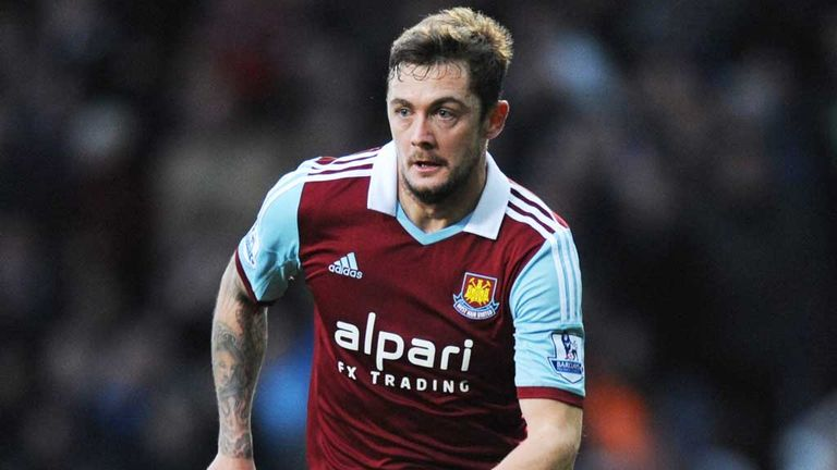 George McCartney: West Ham full-back returned from injury against Fulham