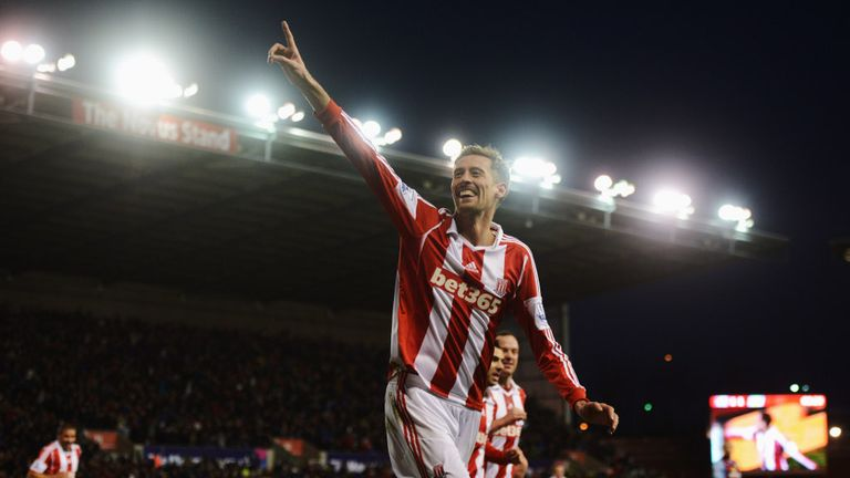 Peter Crouch: Enjoying a renaissance under Stoke boss Mark Hughes