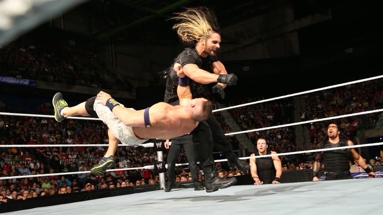 Off to a flyer: Rollins tested Cena - but eventually came up short