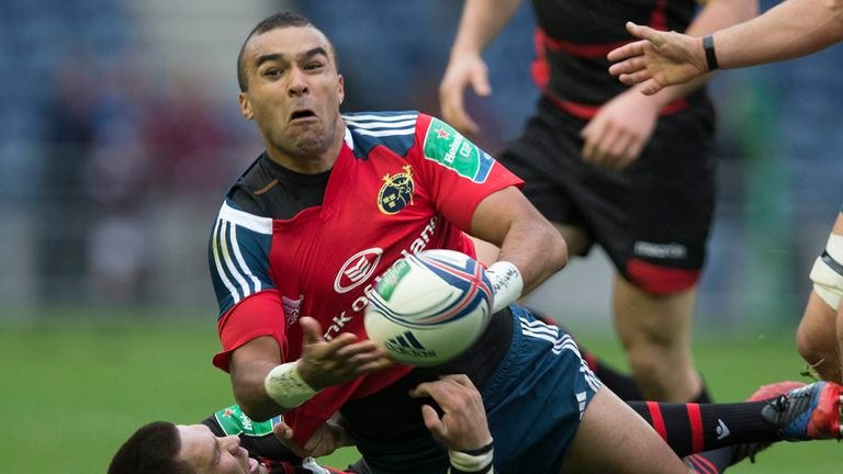 Simon Zebo: Could face Ulster next month