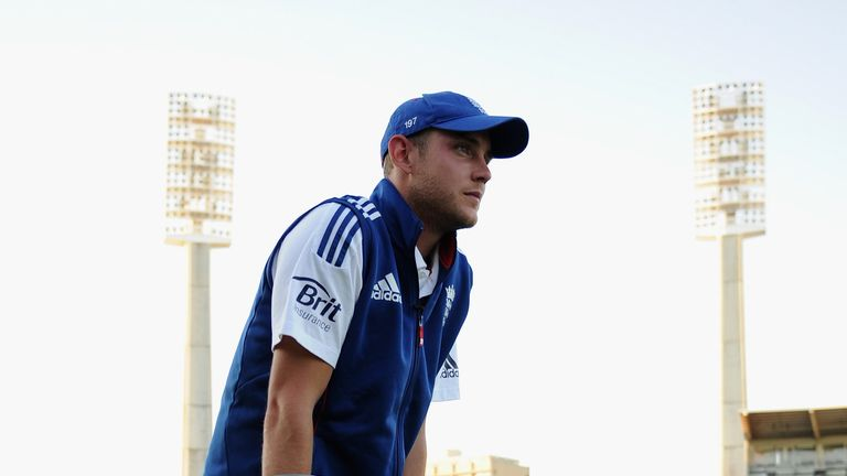 Stuart Broad: Was unable to take the field in Australia's second innings at the WACA