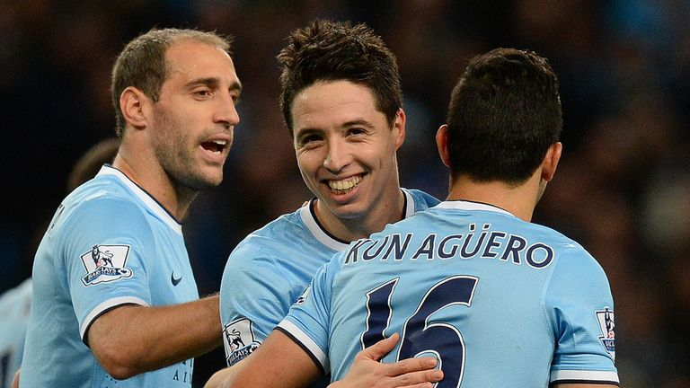 Samir Nasri: Hopes Sergio Aguero will be fit to face Barcelona