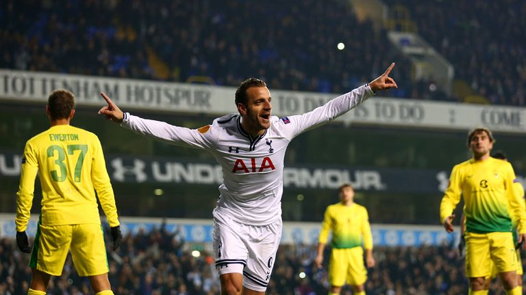 Roberto Soldado: Netted a hat-trick as Tottenham crushed Anzhi Makhachkala