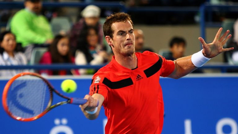 Andy Murray: back on court after surgery