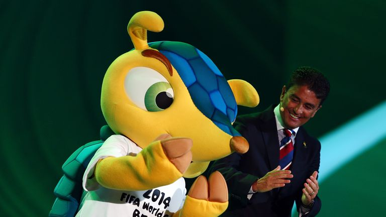Fuleco and Bebeto: At Friday's draw