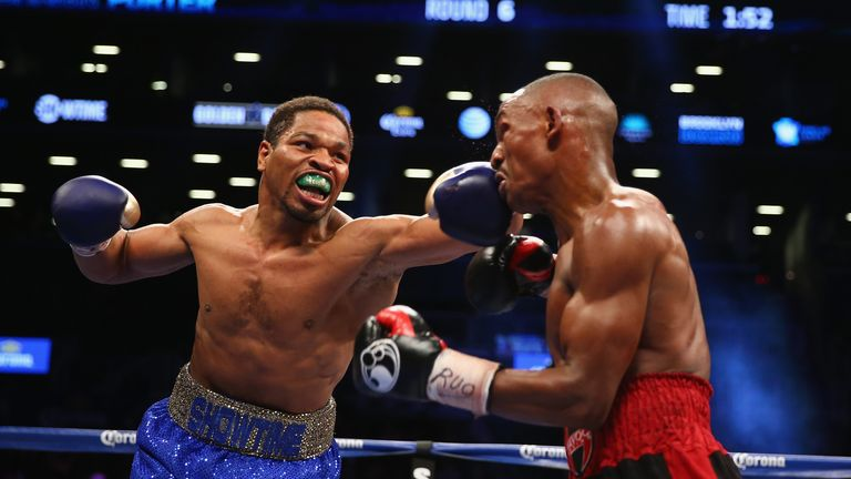 Shawn Porter (left): Catches Devon Alexander with a left hand at the Barclays Center