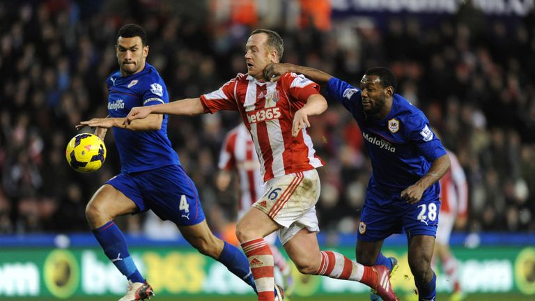 Stoke City's Charlie Adam looked threatening throughout