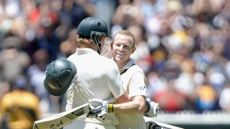 Chris Rogers (R): Scored a century on the day Australia went 4-0 up in the series