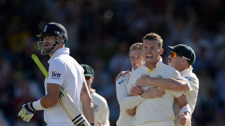 Peter Siddle: Australia paceman celebrates another Kevin Pietersen dismissal
