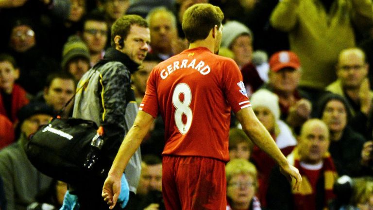 Steven Gerrard will be sidelined until the new year