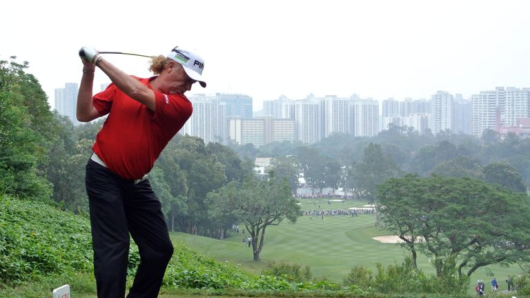 Miguel Angel Jimenez is a three-time winner of the event