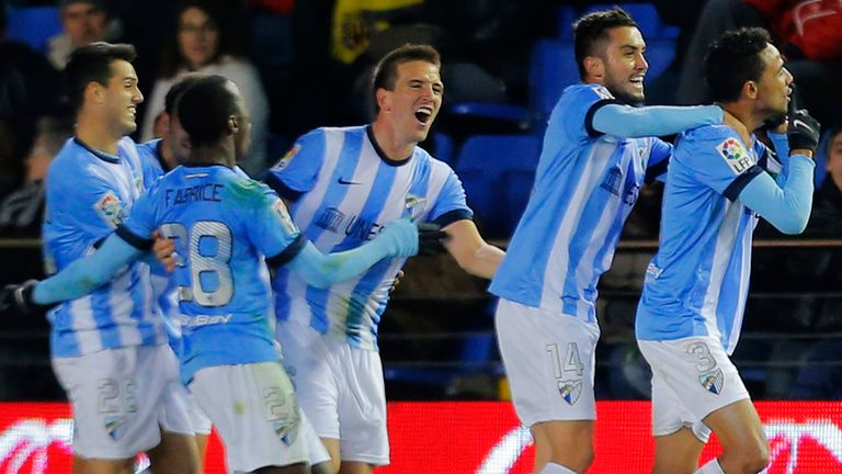 Malaga moved into the top half of the division