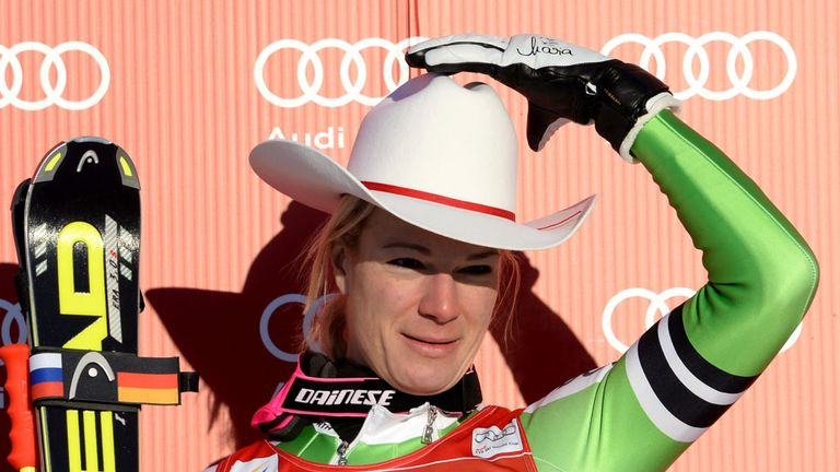 skiing lindsey vonn was 41st as maria hoefl riesch won in. Black Bedroom Furniture Sets. Home Design Ideas