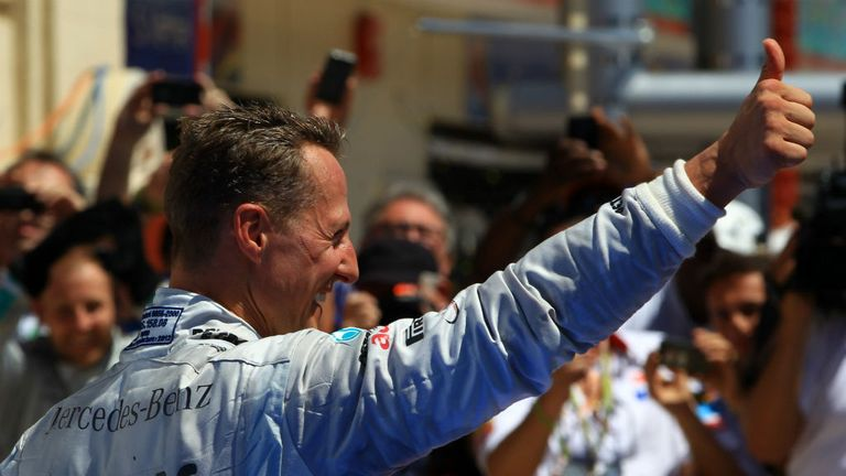 F1 drivers past and present have wished Schumacher well