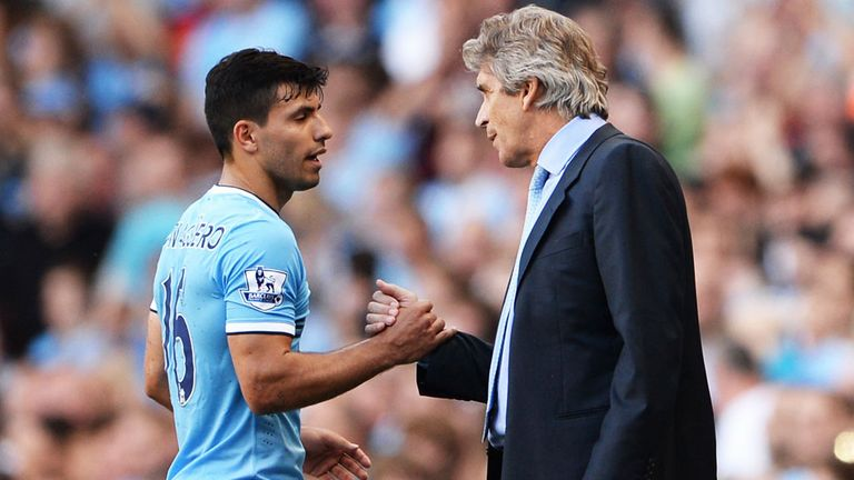 Sergio Aguero (l): On brink of return to first-team action