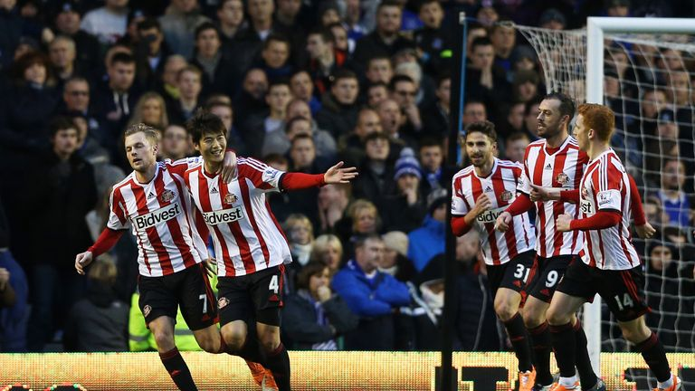 Ki Sung-Yueng: Celebrates his penalty for Sunderland
