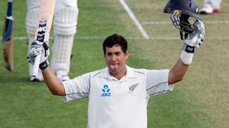 Ross Taylor: Celebrates his century