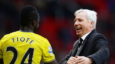 Alan Pardew: Glad to have Tiote back from injury