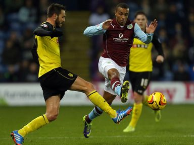 Junior Stanislas tries to get past Marco Cassetti