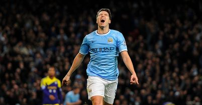 Samir Nasri: Celebrates after scoring against Swansea