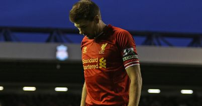 Steven Gerrard: Looked on as Liverpool thrashed Tottenham