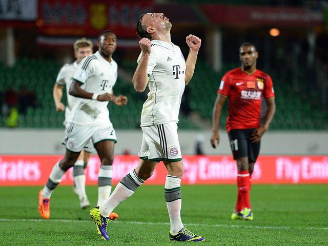 Franck Ribery celebrates.