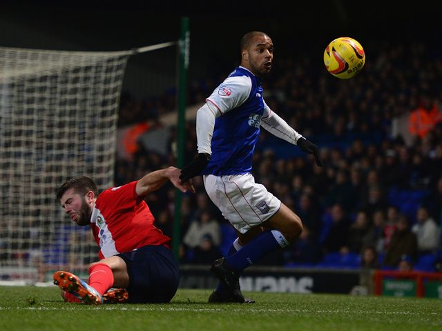 David McGoldrick in action for Ipswich