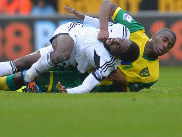 Nathan Dyer suffered an injury against Norwich
