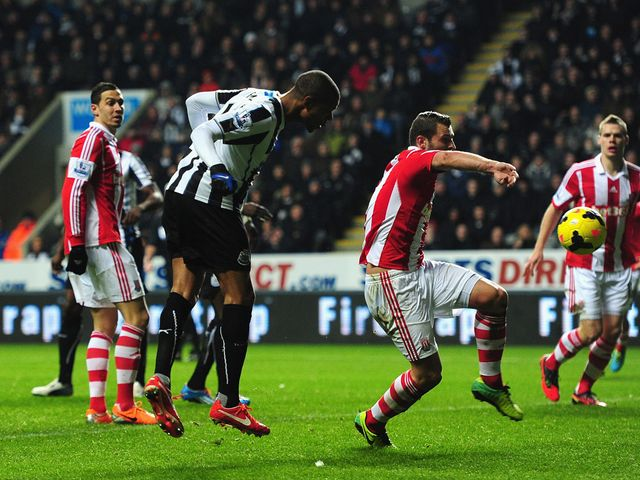 Loic Remy heads home his second of the game