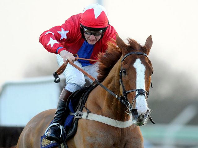 Sire De Grugy winning the Grade One Sodexo Clarence House Chase at Ascot today