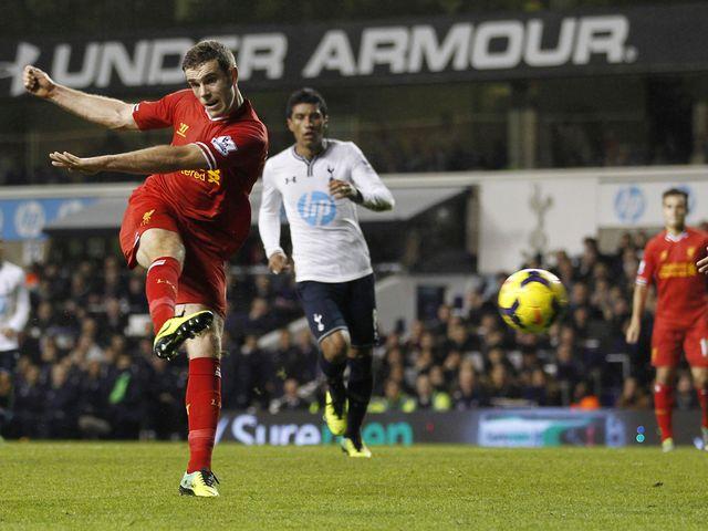 Jordan Henderson scores Liverpool's second goal