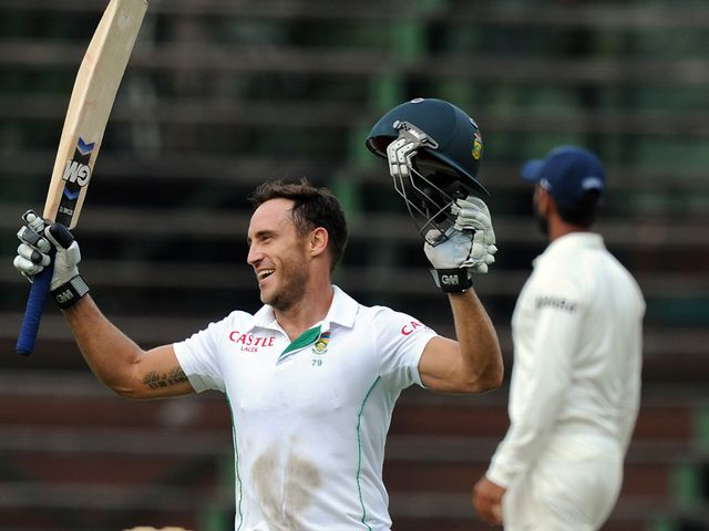 Faf du Plessis: Hit a century in thrilling draw
