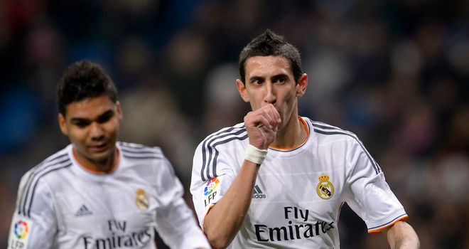 Angel Di Maria: On target for Real in semi-final first leg
