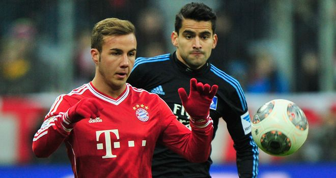 Mario Gotze of Bayern Munich in action