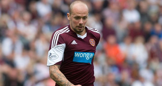 Jamie Hamill: Earned a point for Hearts