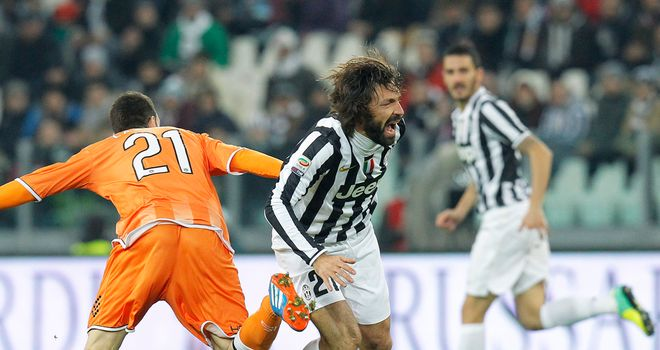 Andrea Pirlo in action for Juventus.